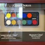 normál és múzeum üveg