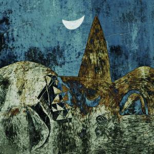 Táj holddal ( Vajda Lajos motívumaival )