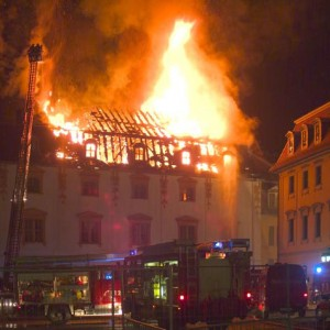 Weimar, Brand der Herzogin Anna Amalia Bibliothek