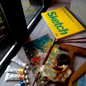 A festőművész kirakata
